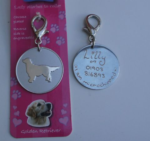 GOLDEN RETRIEVER ID TAG -  ENGRAVED FREE